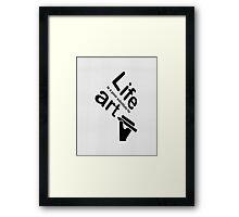 Art v Life - Blue Framed Print