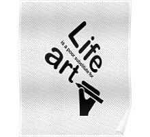 Art v Life - Blue Poster