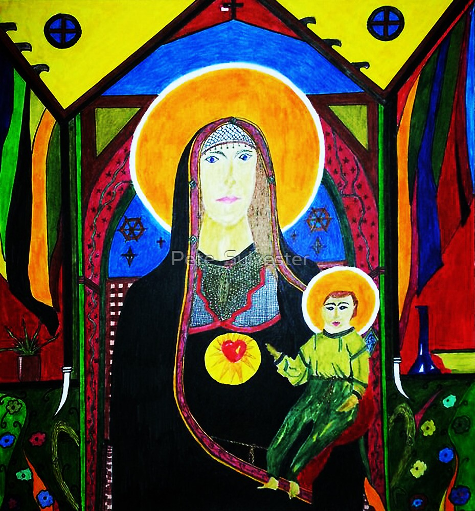MARY AND CHILD by Pete  Sylvester