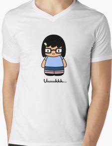 Hello uuhhh - white- Mens V-Neck T-Shirt