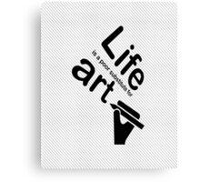 Art v Life - Carbon Fibre Finish Canvas Print