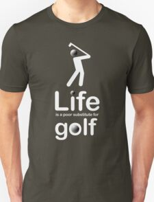 Golf v Life - White Graphic T-Shirt
