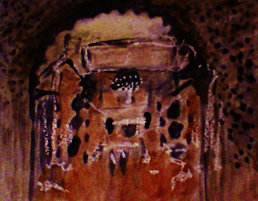 Morrocan restraunt, watercolor by Anna  Lewis, blind artist