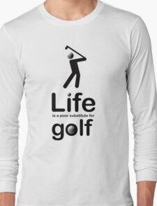 Golf v Life - Black Graphic Long Sleeve T-Shirt