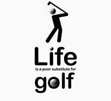 Golf v Life - Black Graphic Men's Baseball ¾ T-Shirt