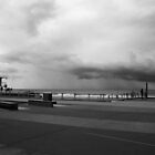 Surfers Paradise Promenade And Storm by Noel Elliot