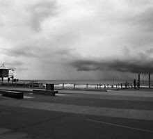 Surfers Paradise Promenade And Storm by Noel Elliot