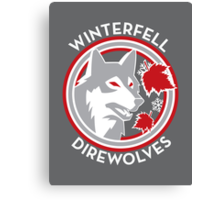 Winterfell Direwolves (Retro Variant) Canvas Print