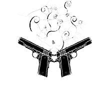 double gun Photographic Print