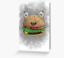 Freaky food item: Burger Greeting Card