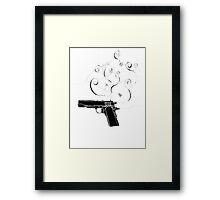 torrid gun negative Framed Print
