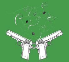 double gun negative Kids Clothes