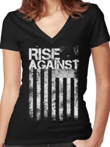 Rise Against Women's Fitted V-Neck T-Shirt