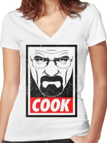 Walter White - Cook Women's Fitted V-Neck T-Shirt