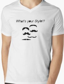 What´s your Mustache Style? Mens V-Neck T-Shirt