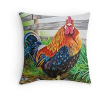 Master of the Barnyard Throw Pillow
