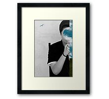 The only way out is through Framed Print