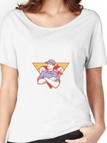 Builder Construction Worker Hammer House Women's Relaxed Fit T-Shirt