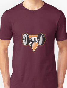 Hand Lifting Dumbbell Retro T-Shirt