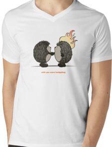Wish you were hedgehog Mens V-Neck T-Shirt