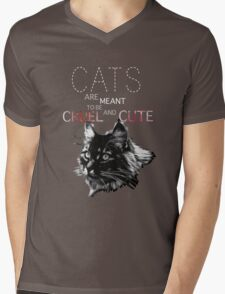 Cats are meant to be cruel and cute Mens V-Neck T-Shirt