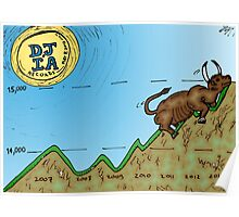 DJIA Record Caricature Poster