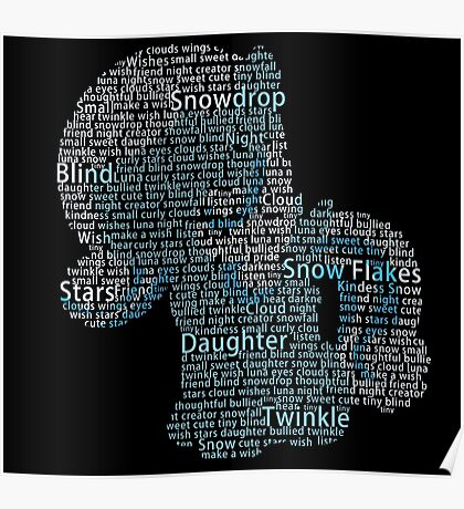My Little Pony - Snowdrop Typography Poster