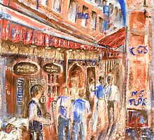 Restaurant Alley by Kathie Nichols