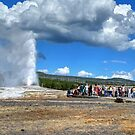 The Old Faithful Geyser at Yellowstone National Park by RedskinzFan