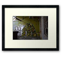 Robot Guardian Framed Print