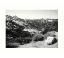 Mountain View in Black and White Art Print