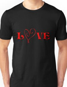 Red Heart And Love  Unisex T-Shirt