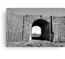 The Old Railway Bridge 2 [Black and White] Canvas Print