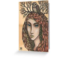 The Autumn Cloak Greeting Card