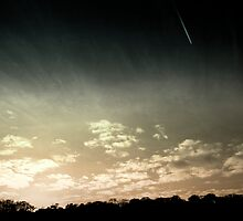 Colourized sunset with jet plane by Jamie Parker