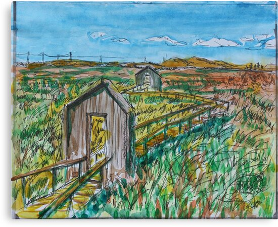 Watercolor Sketch - Alviso Marin Park. 2013 by Igor Pozdnyakov