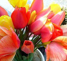 Spring bouquet of tulips by Ana Belaj