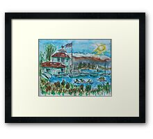 Watercolor Sketch - Shoreline Park, Mountain View, California. 2013 Framed Print