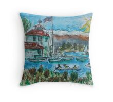 Watercolor Sketch - Shoreline Park, Mountain View, California. 2013 Throw Pillow