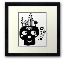 Funny skull. Framed Print