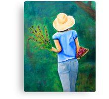 Walk in the backyard Canvas Print