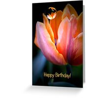 Tulip Happy Birthday Text card Greeting Card