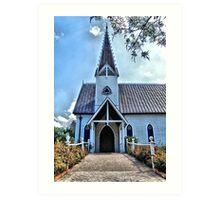 Edythe Bates Old Chapel, Round Top, Texas Art Print