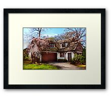 House - Westfield NJ - Who doesn't love spring  Framed Print