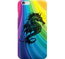 Sea Horse on Rainbow iPhone Case/Skin