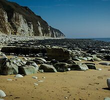 Flamborough Head at Danes Dyke by Angie Morton