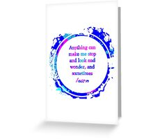 Kurt Vonnegut Learning Quote Design Greeting Card