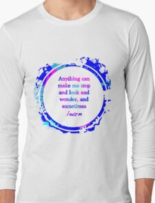 Kurt Vonnegut Learning Quote Design Long Sleeve T-Shirt