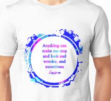 Kurt Vonnegut Learning Quote Design Unisex T-Shirt