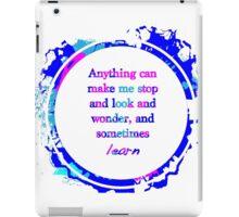 Kurt Vonnegut Learning Quote Design iPad Case/Skin